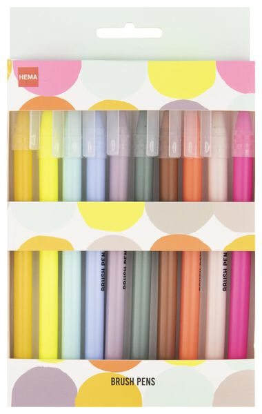 brushpennen - 10 stuks - 14425204 - HEMA
