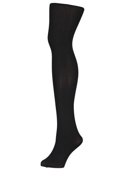 push-up panty 60 denier zwart zwart - 1000001215 - HEMA