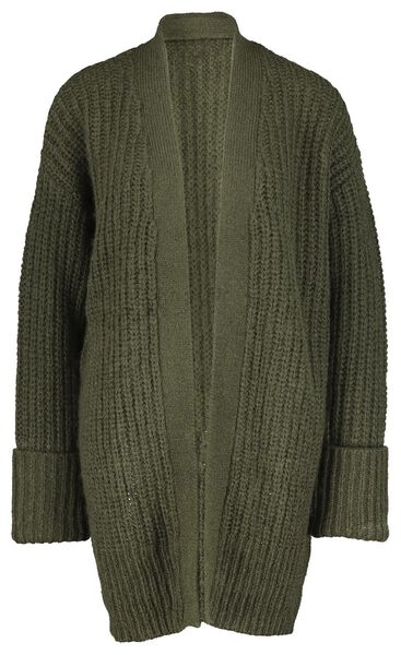 damesvest met wol olijf - 1000021466 - HEMA