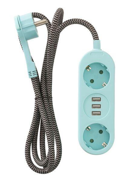 USB-stekkerdoos 2-voudig - 81060002 - HEMA