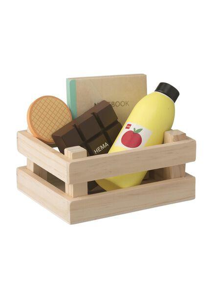 houten boodschappenset - 15122392 - HEMA