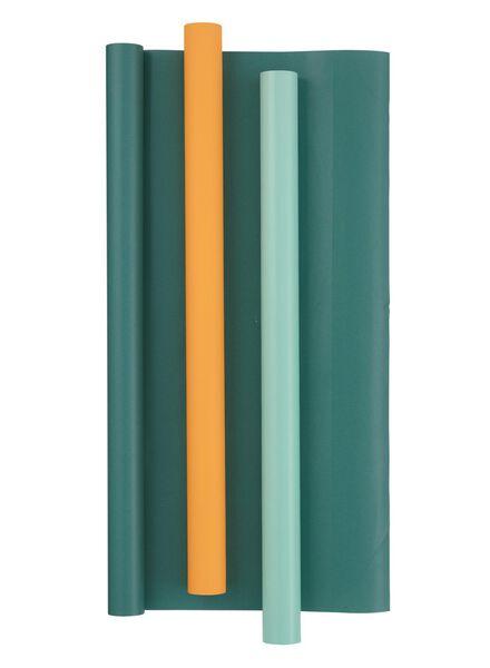 3-pak kaftpapier - groen - 14522212 - HEMA