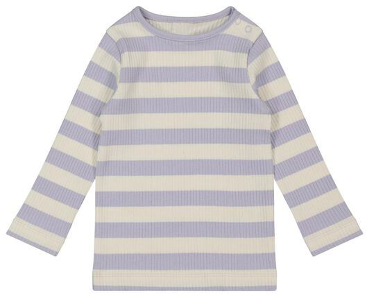baby t-shirt rib lila 86 - 33008445 - HEMA