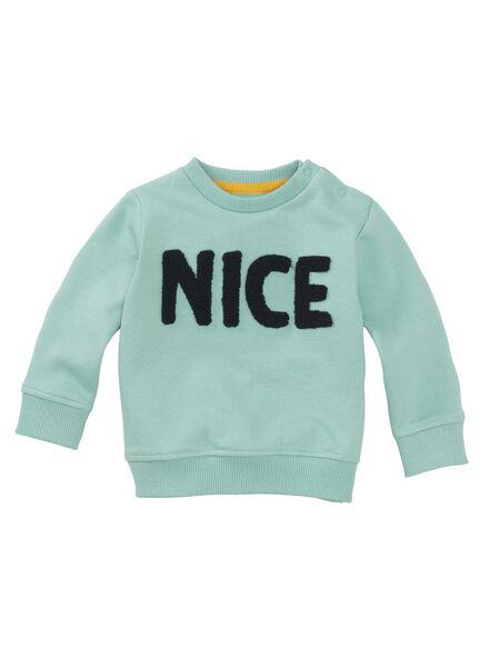 babysweater mintgroen mintgroen - 1000011238 - HEMA