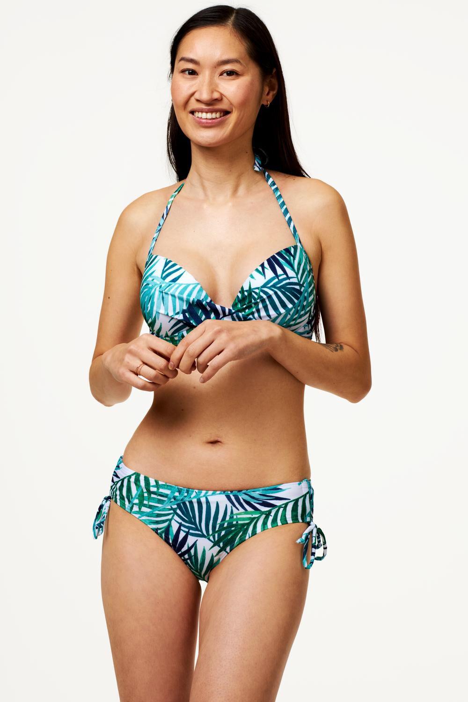 HEMA Dames Bikinibroekje Recycled - Bladeren Blauw (blauw)