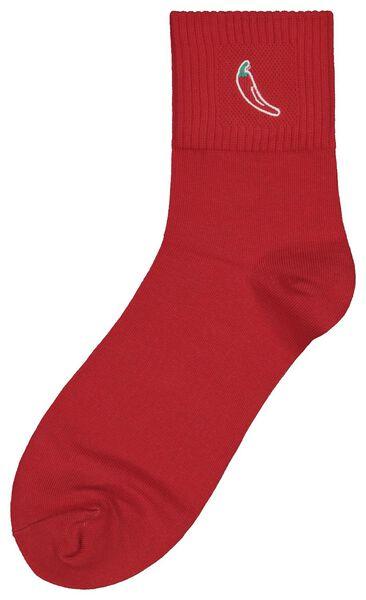 sokken maat 42-46 'hot' peper rood - 61140087 - HEMA
