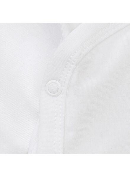 overslag romper organic katoen stretch - 2 stuks wit wit - 1000005362 - HEMA