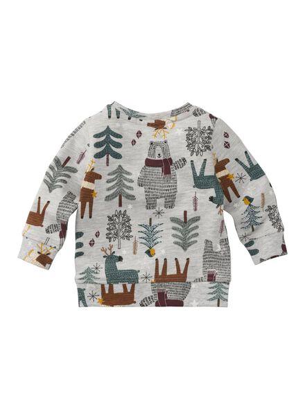 babysweater grijsmelange grijsmelange - 1000009990 - HEMA