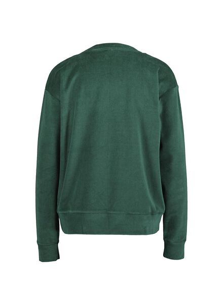 dames sweatshirt donkergroen donkergroen - 1000014758 - HEMA