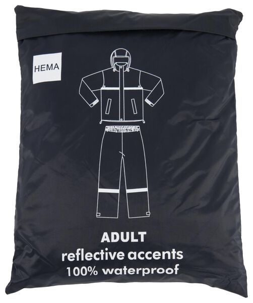 regenpak voor volwassenen blauw S - 34450101 - HEMA