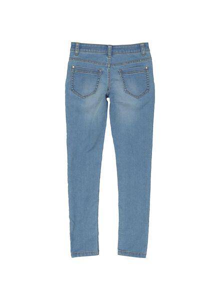 kinder skinny jeans middenblauw middenblauw - 1000013529 - HEMA
