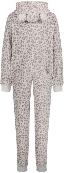dames onesie fleece grijs L - 23421963 - HEMA