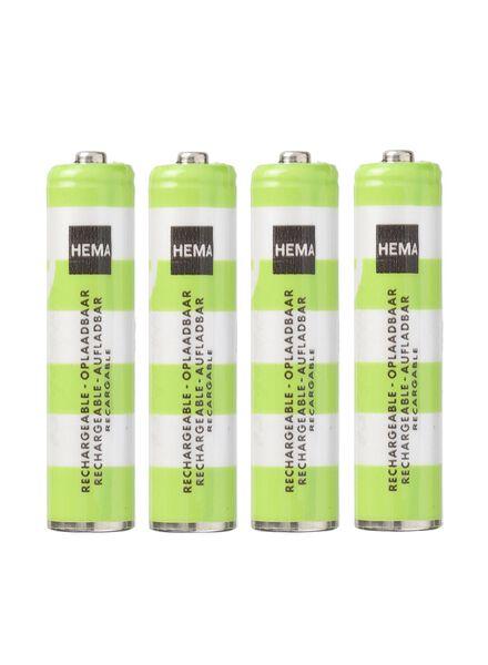 4-pak AAA oplaadbare batterijen - 41210517 - HEMA