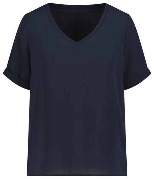 dames top donkerblauw donkerblauw - 1000019330 - HEMA
