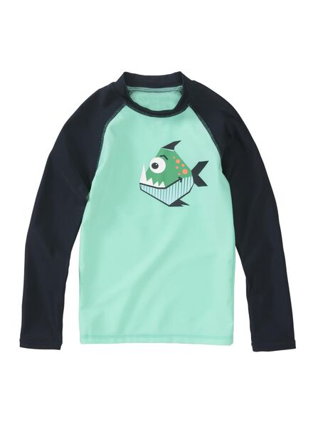 kinder zwemshirt met UPF 50+ groen groen - 1000012956 - HEMA
