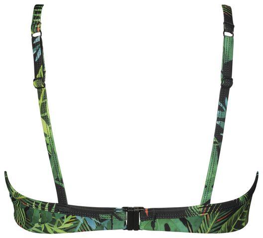 dames bikinitop met beugel cup B-E - flower groen 85E - 22350328 - HEMA