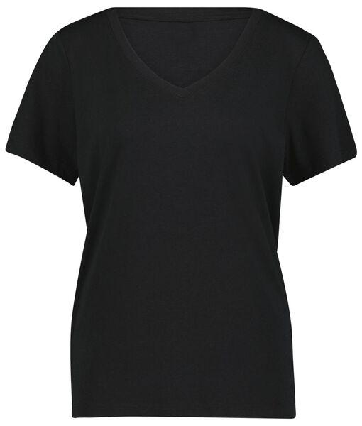 dames t-shirt zwart S - 36304826 - HEMA