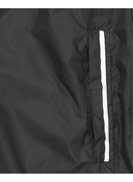 opvouwbare unisex regenjas zwart zwart - 1000006261 - HEMA