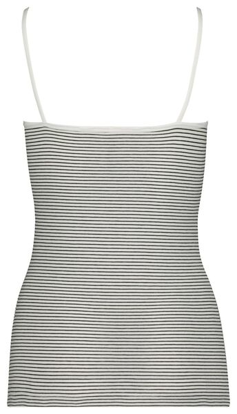 dameshemd spaghettibandjes zwart/wit XL - 19603965 - HEMA