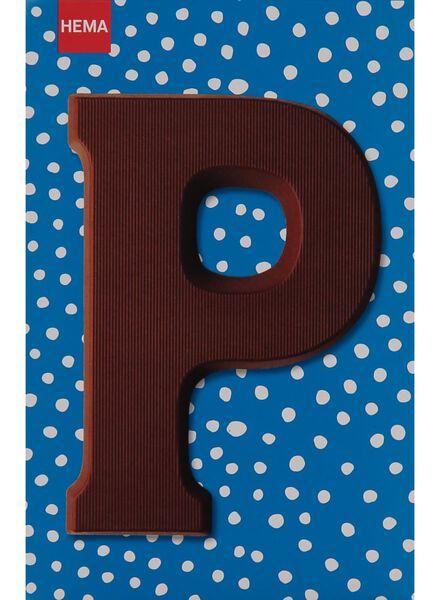 melkchocolade letter P - 10033014 - HEMA