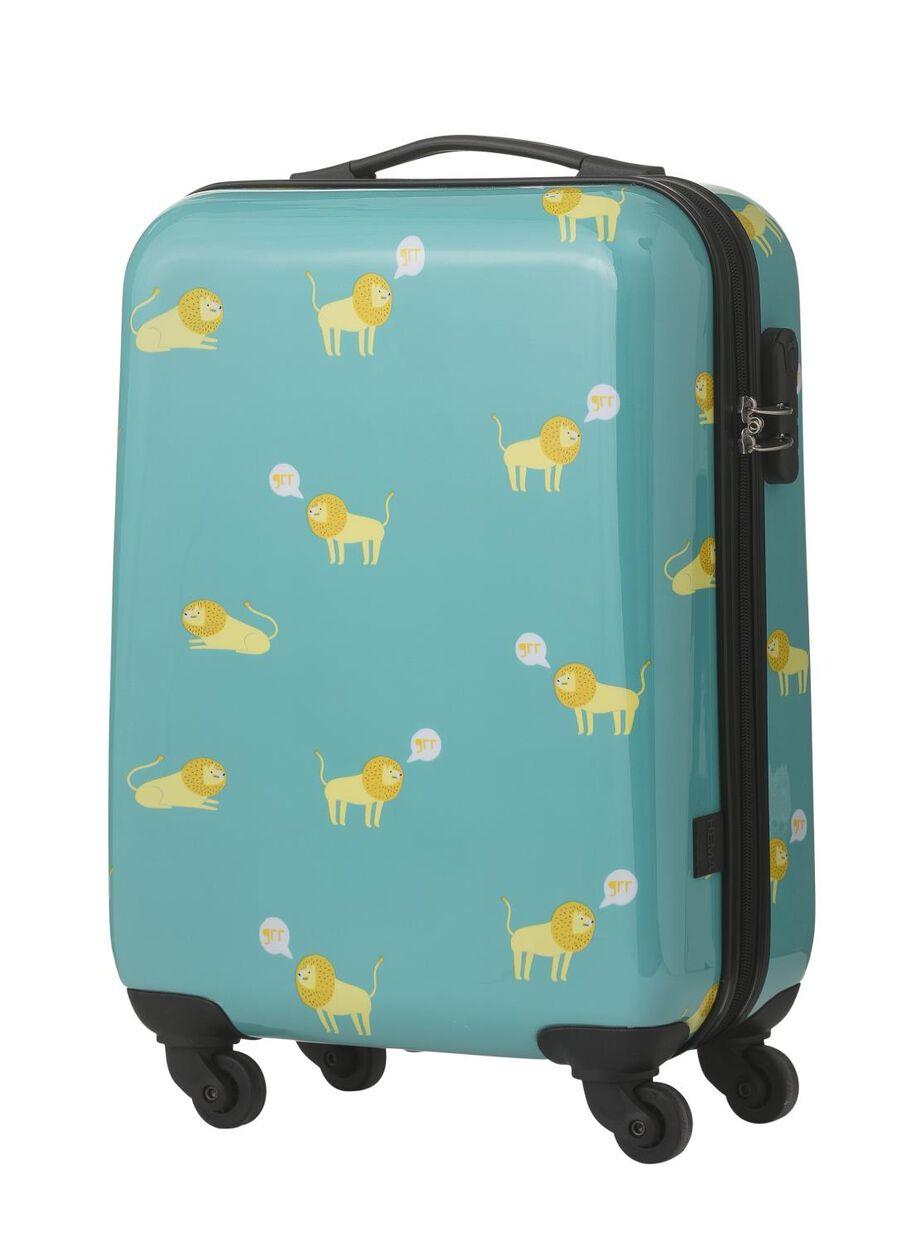 90294b4991d afbeeldingen koffer - 55 x 35 x 20 - lichtblauw leeuw - 18600230 - HEMA