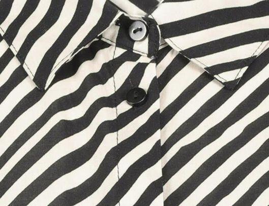 damesblouse wit/zwart wit/zwart - 1000020924 - HEMA