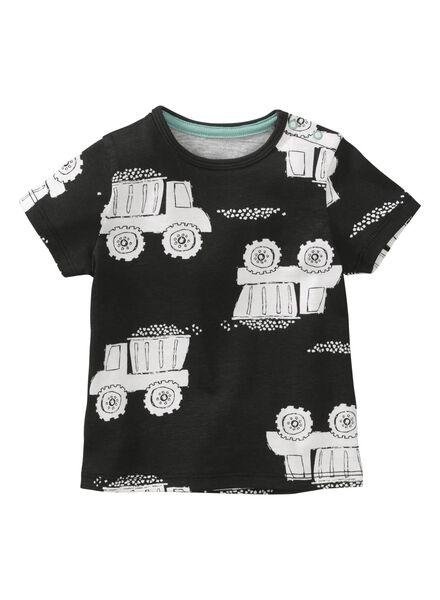 baby t-shirt zwart zwart - 1000011928 - HEMA