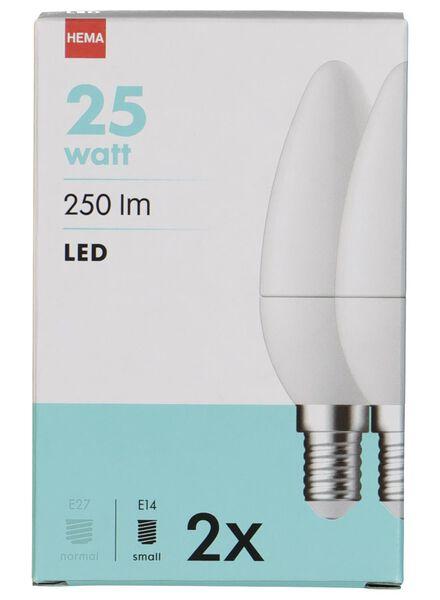 LED lamp 25W - 250 lumen - niet dimbaar - 2 stuks - 20090037 - HEMA