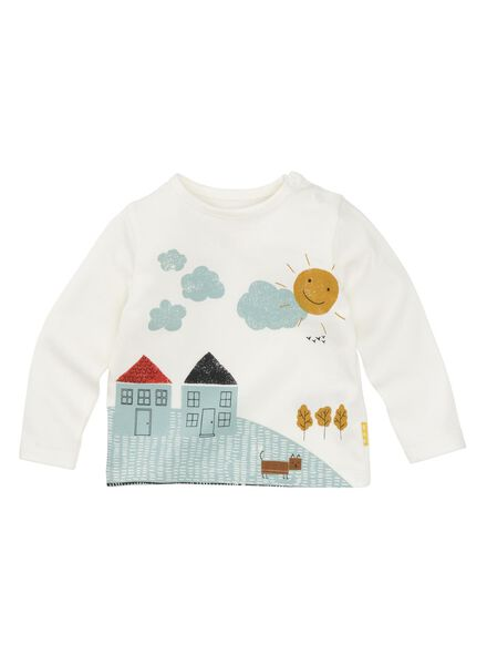newborn t-shirt gebroken wit - 1000008446 - HEMA