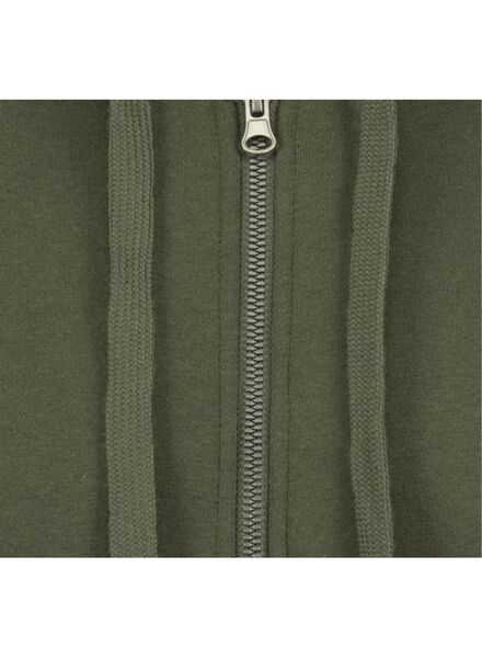 heren sweatvest groen groen - 1000014295 - HEMA