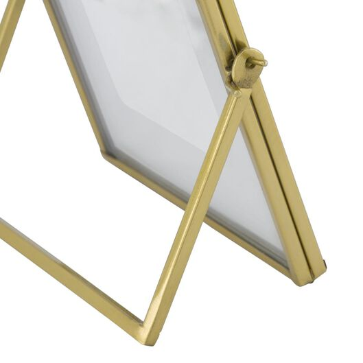 fotostandaard metaal 15x15 goud - 13611122 - HEMA