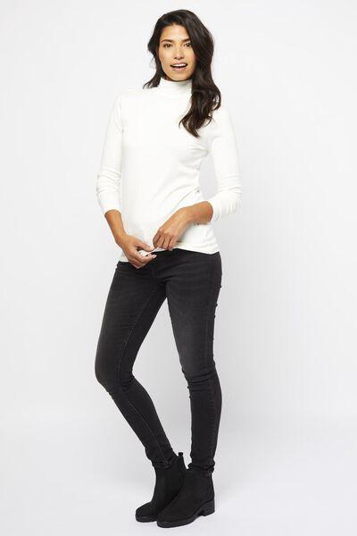 dames t-shirt col gebroken wit gebroken wit - 1000021675 - HEMA