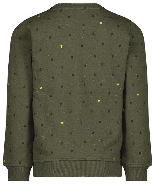 kindersweater driehoekjes donkergroen donkergroen - 1000021470 - HEMA