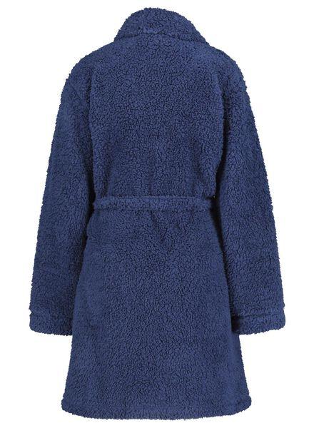 dames badjas donkerblauw S/M - 23481116 - HEMA