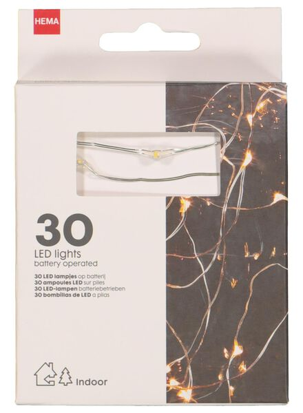 LED kerstverlichting 30 lampjes - 25590020 - HEMA