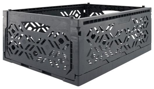 klapkrat recycled 30x40x15 - donkergrijs - 39821050 - HEMA