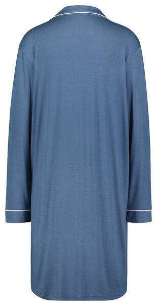 dames nachthemd viscose blauw S - 23421831 - HEMA