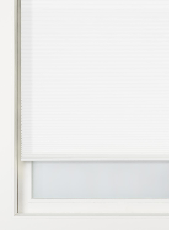 HEMA Plissé Dubbel Lichtdoorlatend / Gekleurde Achterzijde 32 Mm Wit (wit)