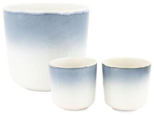 bloempot - Ø 6.8 cm - blauw reactief glazuur - 13391021 - HEMA