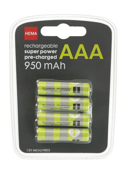 4-pak oplaadbare batterijen - 41290273 - HEMA