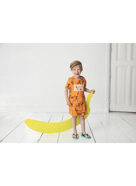 kinder t-shirt - Bananas&Bananas oranje oranje - 1000014159 - HEMA