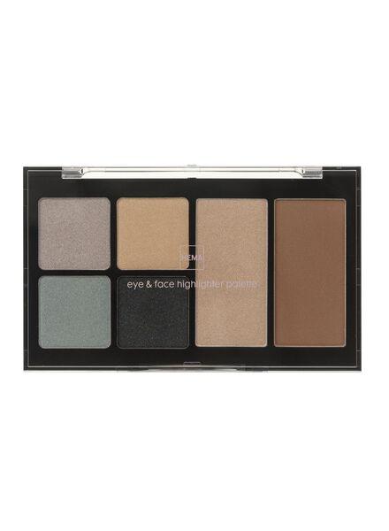oog en gezicht highlighter palette - 11290021 - HEMA