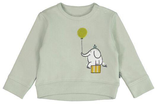 newborn sweater olifant blauw blauw - 1000021849 - HEMA