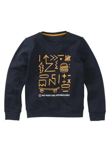 kindersweater donkerblauw donkerblauw - 1000009173 - HEMA