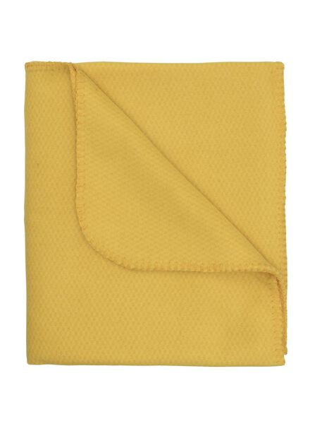 fleece plaid 130 x 150 cm geel - 7391028 - HEMA