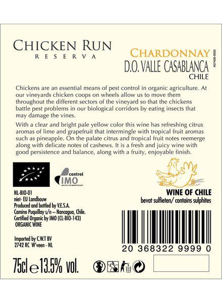 chicken run chardonnay biologisch - 0,75 L - 17371201 - HEMA