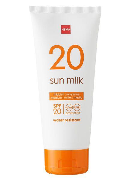 zonnemelk SPF 20 - 11610113 - HEMA