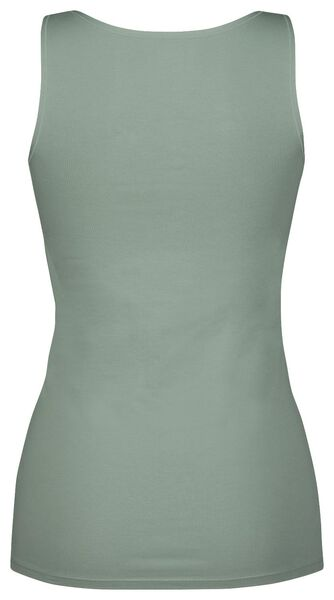 dameshemd real lasting cotton groen - 1000022963 - HEMA