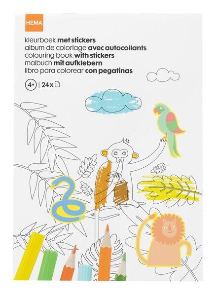 kleurboek met stickers - 15910083 - HEMA