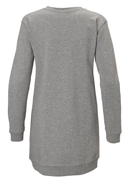 dames oversized sweater grijsmelange grijsmelange - 1000012514 - HEMA